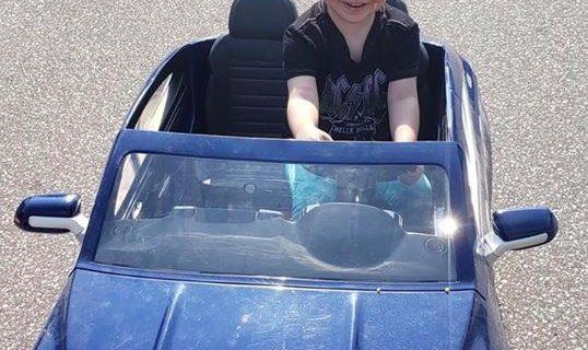Deklan finally got to take out her new  Mercedes …